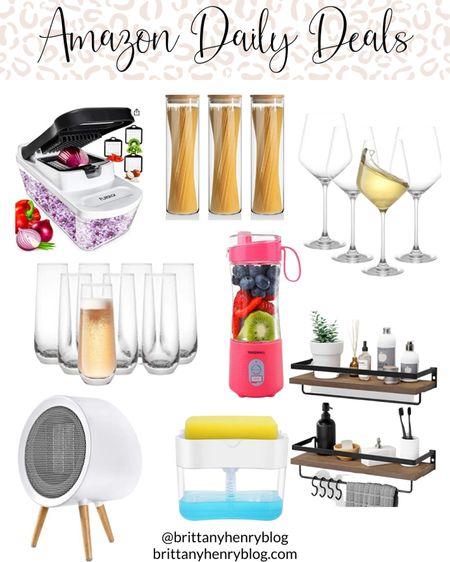Amazon deals / amazon sale / amazon home / amazon kitchen / amazon organization / wine glasses / champagne flutes / glass canisters / vegetable chopper / space heater / shelves / portable blender #liketkit @liketoknow.it   #LTKsalealert #LTKunder50 #LTKhome