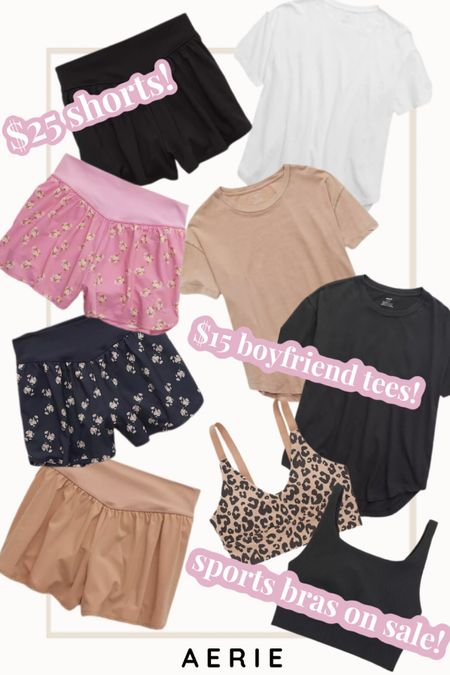 Aerie sale! Shorts on major sale! They have biker, running, loungewear styles; all discounted! Super cute distressed and oversized boyfriend tees! Love to dress these up or down! Their sports bras are my fav for working out or just taking a walk! http://liketk.it/3bsZf #liketkit @liketoknow.it #LTKsalealert #LTKstyletip #LTKfit Shop your screenshot of this pic with the LIKEtoKNOW.it shopping app
