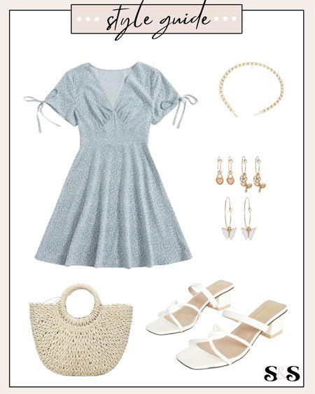 Gorgeous light blue dress! Perfect for all things summer - fit is tts (I got my regular small)💓   #summerdress #weddingguest #weddingguestdresses #weddingguestoutfit #beachbag #heels #summerdresses #romwe #amazonfashion #amazon #amazonfinds #targetstyle #target #babyshowerdress #feminine    #LTKshoecrush #LTKSeasonal #LTKunder50