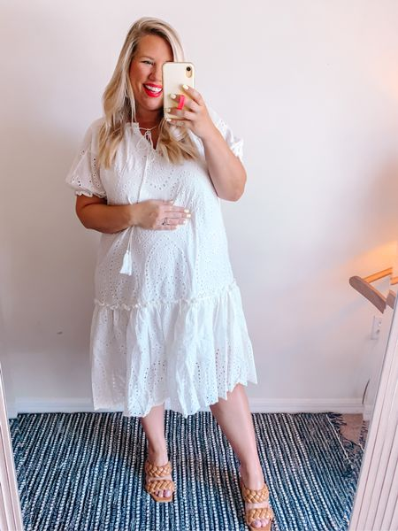 White + eyelet + ruffles = so dreamy!  Wearing a large, would suggest sizing down.     #LTKbump #LTKstyletip #LTKcurves