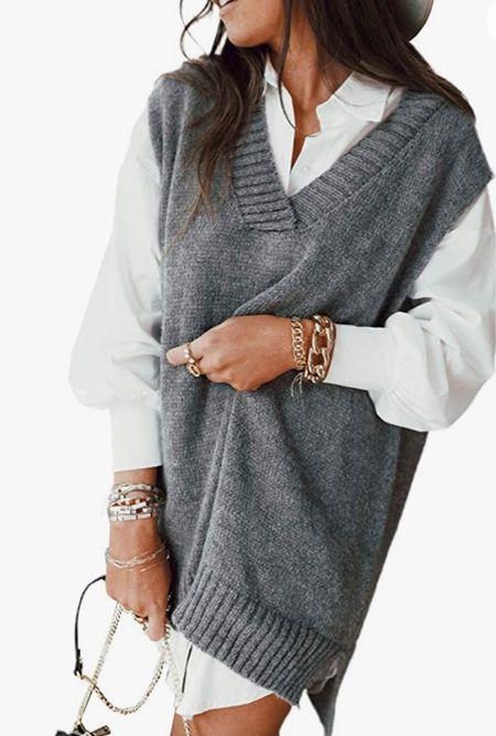 Women's oversized sweater vest. #amazon #fashion #womens #fall #fallwear  Follow my shop on the @shop.LTK app to shop this post and get my exclusive app-only content!  #liketkit #LTKunder50 #LTKSeasonal #LTKstyletip @shop.ltk http://liketk.it/3nr1z