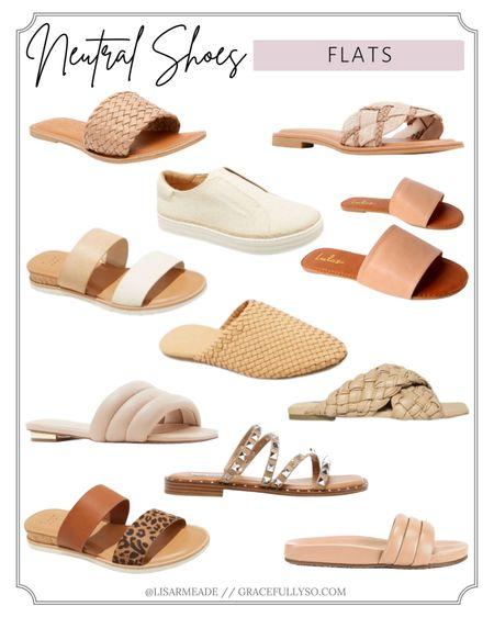 Neutral Shoes - Flats ✨  . . .  http://liketk.it/38KOS #liketkit @liketoknow.it #nude #nudeshoes #shoes #flats #neutralshoes #lulus #nordstrom #stevemadden #slides #summershoes #spring #summer #animalprint #mules #opentoemule #ropesandal #braidedsandal #braided #opentoe