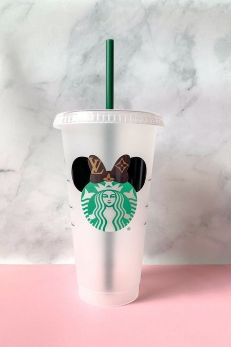 Aw look at this super cute designer inspired reusable Starbucks cup! So cute and it's under $25!  #LTKhome #LTKunder50 #LTKfamily
