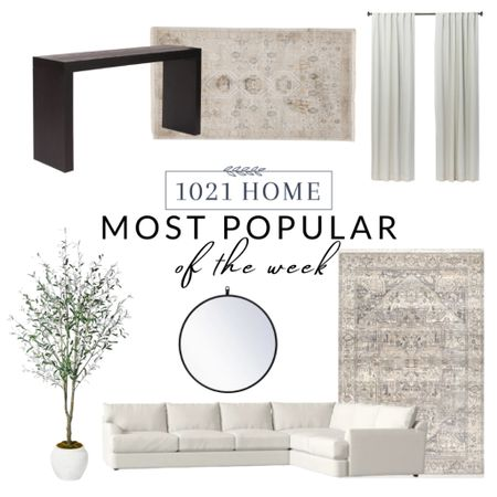 Rugs, home decor, tree, table, console table, curtains, drapes, mirror    #LTKhome #LTKstyletip #LTKSeasonal