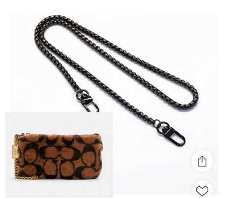 Add this gorgeous chain to the new coach Sherpa bag. This will elevate and take it next level! #sherpa #amazon #hacks #giftguide  #LTKHoliday #LTKGiftGuide