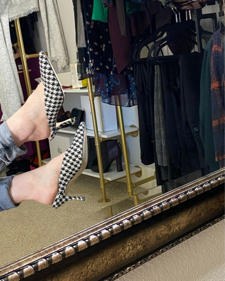 Kitten Heel. What is the best of both worlds? Houndstooth mega trend in a kitten heel mule. This fashion forward pattern acts like a neutral and goes with EVERYTHING!!!   http://liketk.it/34rAO #liketkit @liketoknow.it #LTKshoecrush #LTKNewYear #LTKstyletip @liketoknow.it.home