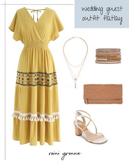 Wedding Guest Outfit  http://liketk.it/3cM8j @liketoknow.it #liketkit   #LTKsalealert #LTKstyletip #LTKunder100  Wedding Guest Outfit, Summer Dress, Spring Dress, Summer Outfit, Summer Fashion, Spring Fashion, Baby Shower Outfit, Mother's Day Outfit, Church Outfit, Bridal Shower Outfit, Maxi Dress, Midi Dress, Boho Outfit, Boho Style, Boho Fashion, Sale