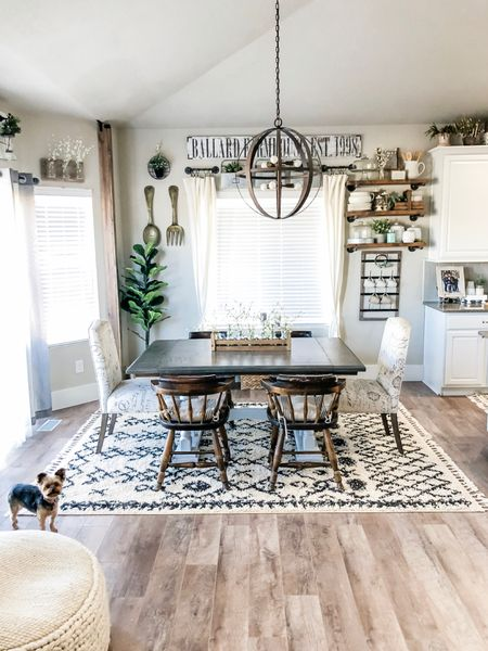 Farmhouse Dining Table Decorations on a Budget!  #homedecor #homedecorating #diningroom #farmhousestyle #ltkspring #LTKunder100 #LTKstyletip @liketoknow.it.home  http://liketk.it/3cLld #liketkit @liketoknow.it #LTKhome