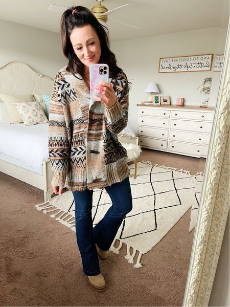 Loving this on trend Aztec cardigan from Target for fall - in my true size small   #LTKunder50 #LTKstyletip #LTKSeasonal