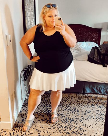 """💖The ode to the tennis skirt💖 I am OBSESSED with tennis skirts right now. I wear a lot of athleisure and something about the tennis skirt makes it look so much more """"put together"""" and intentional, while still being super comfy. I'm sharing some of my faves from @athleta (which I got a 20% off EVERYTHING coupon to my email, so sign up for those!) on my @liketoknow.it #liketkit http://liketk.it/3hsbo #LTKcurves #LTKsalealert"""