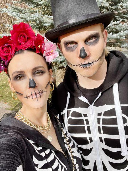 H A L L O W E E N \ Mom & Dad… but make it skeletons💀💀  #momanddad #easyhalloweencostume #skeletons #halloween #halloweencostume   #LTKSeasonal #LTKfamily