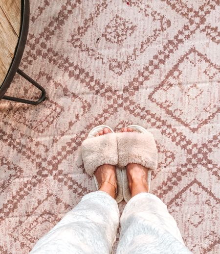 Joggers. Soft sweat pants. Fall staple for pulling on in the AM. Slippers tts, lots of colors. #casualoutfit #joggers#slippers #amazongind  #LTKstyletip #LTKhome #LTKunder50