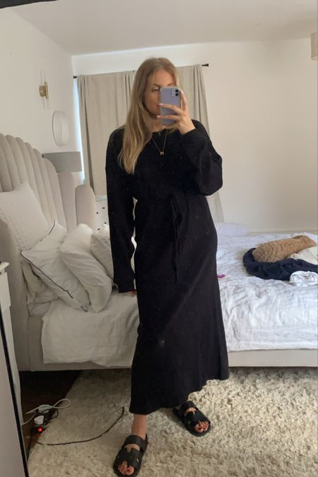 Base range maxi dress, Farfetch dress, black maxi dress, jumper dress; transitional outfit #liketkit http://liketk.it/3mCPr @liketoknow.it #LTKeurope #LTKstyletip #LTKSeasonal