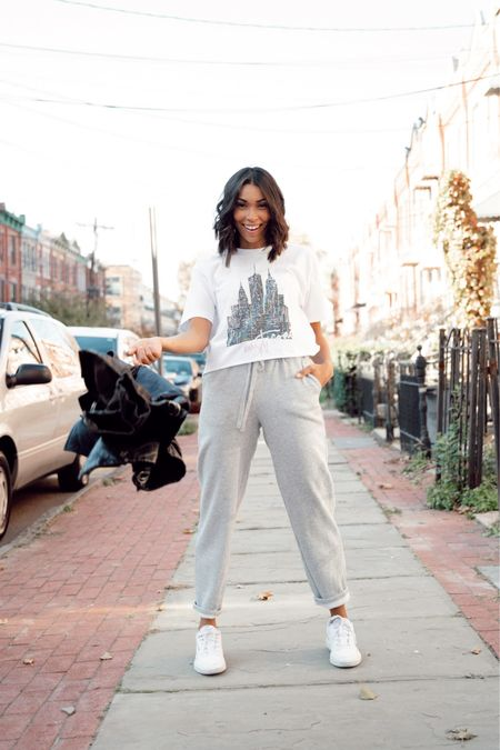 Graphic T-shirt and sweats http://liketk.it/32ClE #liketkit @liketoknow.it #LTKunder50 #LTKunder100 #LTKsalealert