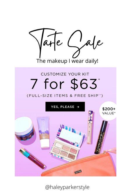 Tarte sale 7 for $63   #LTKsalealert #LTKbeauty #LTKunder100