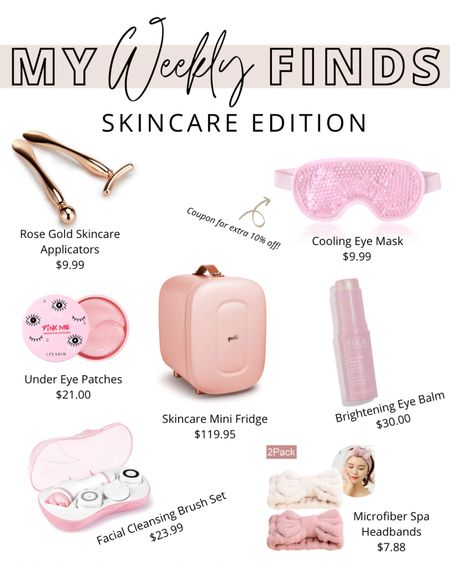 """Weekly finds - """"Skincare Edition"""". Facial brush, under eye patches, brightening eye balm, cooling eye masks and more. http://liketk.it/33Xof #liketkit @liketoknow.it"""
