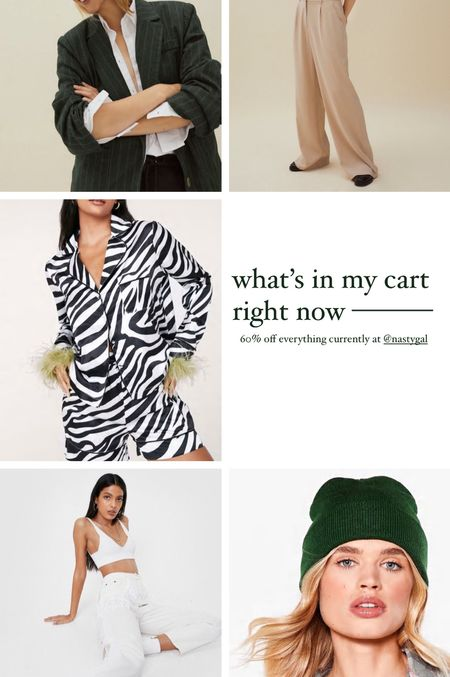 What's in my cart right now - currently 60% off everything at Nasty Gal!!