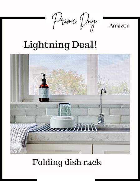 Amazon Prime Day! Must have kitchen item! Best seller!!! Folding dish rack. Lightning deal   #LTKfamily #LTKhome #LTKsalealert