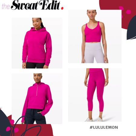 Check out the new lululemon releases this week! Neon pink crop tops! http://liketk.it/3a7nJ #liketkit @liketoknow.it #lululemon #LTKfit #LTKcurves #LTKsalealert