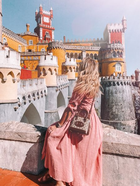 feeling like a total princess in this flowy pink free people midi dress 💕 I linked it and the rest of my outfit   #LTKtravel #LTKeurope