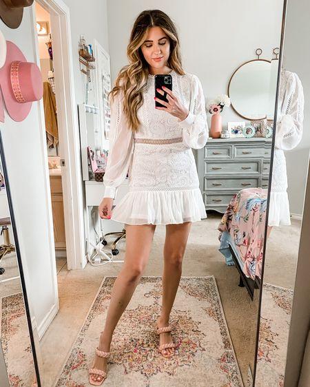 White paisley crochet dress-small Bridal shower dress Rehearsal dinner dress  Engagement dress  #LTKunder100 #LTKwedding #LTKunder50 #liketkit @liketoknow.it http://liketk.it/3joW3