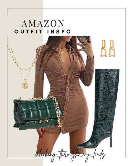 Amazon Fashion | amazon find | amazon prime | amazon outfit | amazon dress | fall dresses | fall boots | fall dresses | fall date night   #LTKstyletip #LTKSeasonal #LTKunder50