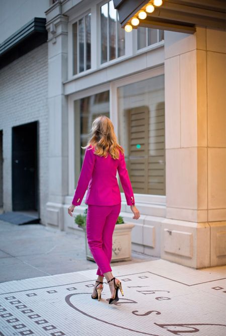 A must have for fall? A suit! Especially in colors! I love these (and can never resist pink!) #investmentpiece   #LTKSeasonal #LTKworkwear #LTKstyletip