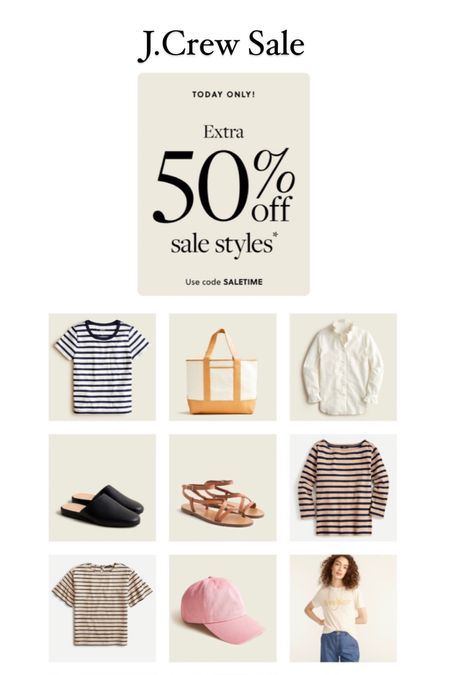 J.Crew extra 50% off sale items Code: SALETIME  #LTKunder50 #LTKSeasonal #LTKsalealert