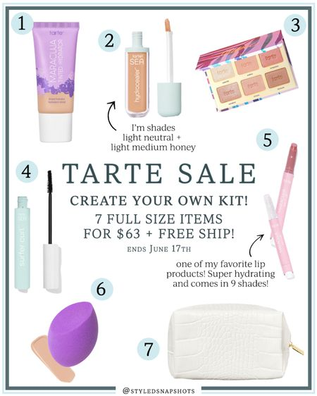 Tarte Beauty Sale // create your own kit // 7 full size items for $63 + free shipping #LTKbeauty #LTKsalealert #LTKunder100 #liketkit @liketoknow.it http://liketk.it/3hGK9
