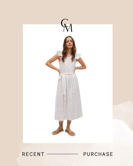 Mango textured cotton dress. White dress. http://liketk.it/3f1c7 @liketoknow.it #liketkit #LTKunder100