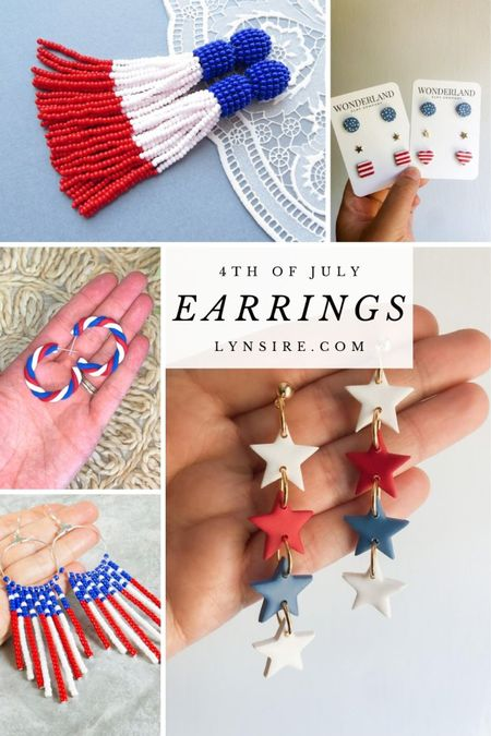 4th of July earrings to celebrate in style 🇺🇸 They make a great addition to complete your look. Some are low in stock so hurry!   #LTKstyletip #LTKworkwear #LTKSeasonal