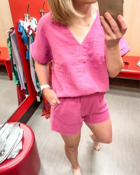 Target pink set top in size M, shorts in size S  http://liketk.it/3gKJF @liketoknow.it #liketkit
