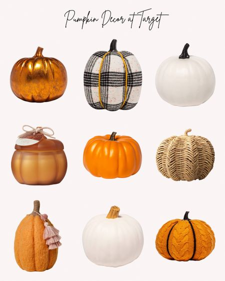 Pumpkins, pumpkin decor, decorations, fall, autumn, Thanksgiving, Halloween, Target   Follow me for more ideas and sales.   Double tap this post to save it for later    #LTKHoliday #LTKhome #LTKSeasonal