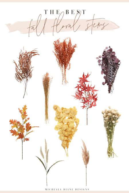 The best faux Fall floral stems. Fall Home Decor   #LTKSeasonal #LTKhome