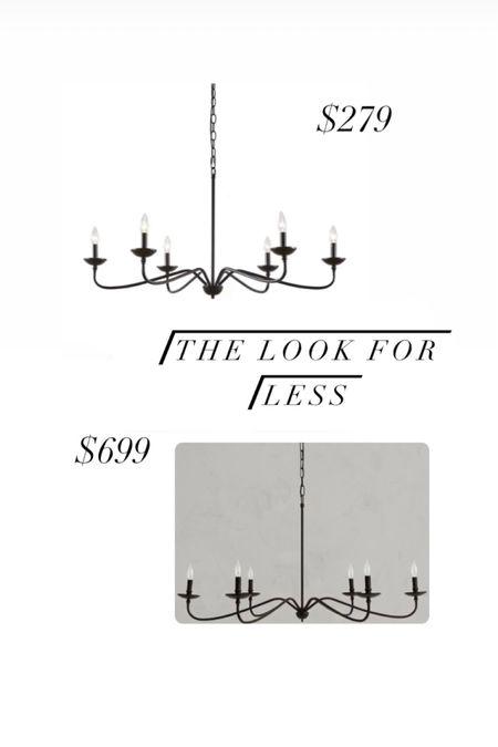 A great chandelier, found a similar one for less! Home decor home lighting designer inspired pottery barn Wayfair    #LTKfamily #LTKsalealert #LTKhome