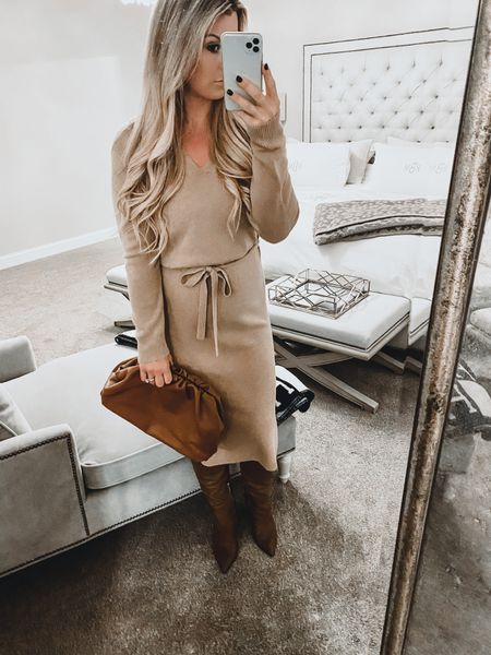 Anxiously awaiting Springs arrival 🌷 but for now wearing my monochromatic looks just a little bit longer 🙌🏻 my boots are on sale and we're a closet staple this past fall/winter and my dress is also on sale but going fast in most sizes. This is the most flattering and comfortable sweater dress especially with a bump 🤰🏼♥️ @liketoknow.it #liketkit  #LTKbump #LTKsalealert #LTKfit http://liketk.it/2KS5c