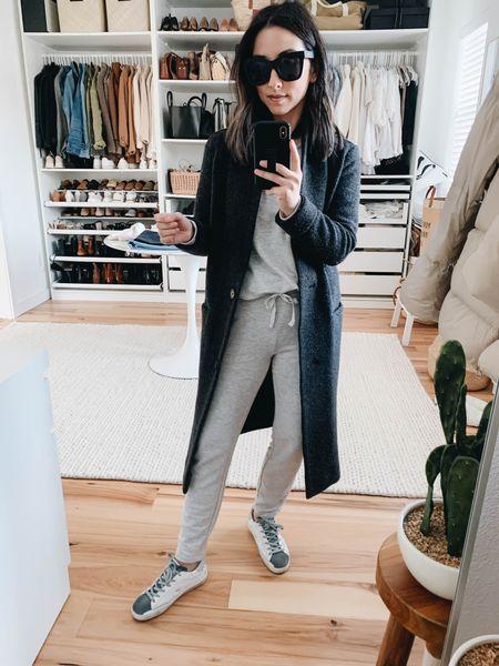 Lou & Grey petite sweat set. Loungewear sets  Coat - Aritzia xxs (can't be linked) Top - Lou & Grey petite small Pants - Lou & Grey petite xxs Sneakers - Golden Goose 35  http://liketk.it/37oNg #liketkit @liketoknow.it