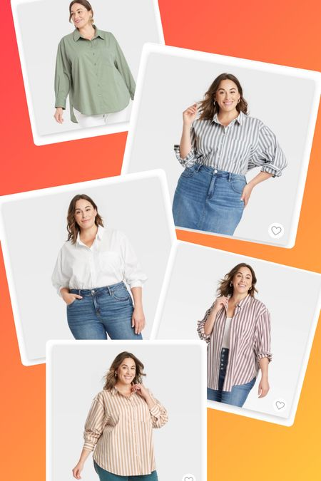 This oversized button down from target is A MUST HAVE. I have bought it in 4/5 colors - so far. Order your normal size for an oversized fit, or size down for a more tailored look  #LTKcurves #LTKworkwear #LTKunder50