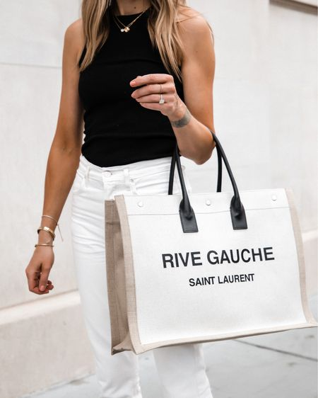 Love my new saint Laurent rive gauche tote! So good for work, travel, weekends, and holds a tone!   #LTKsalealert #LTKtravel #LTKitbag