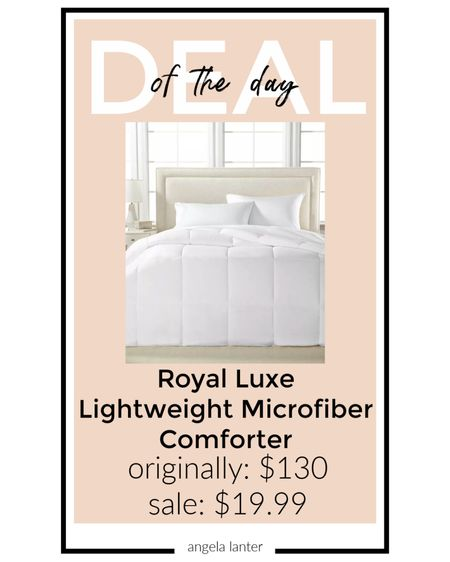 DEAL OF THE DAY!! $130 down alternative comforter marked down to only $19.99 in all sizes and colors 🙌🏼   #LTKhome #LTKsalealert #LTKunder50