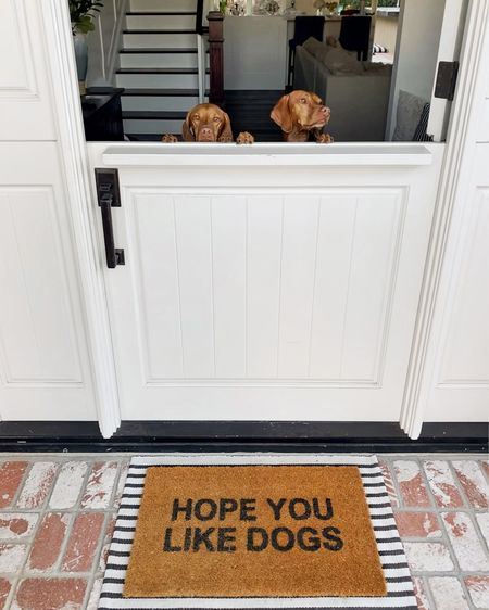 The welcome committee 🐶🐶   #LTKhome