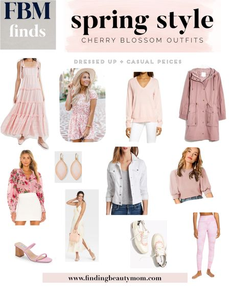 Cherry blossom outfits, spring outfits, casual spring outfits, dressy spring outfits, target finds, workout leggings, Easter looks, Easter dress, pink outfits, sneakers, bridal shower outfits, wedding guest http://liketk.it/3biMj #liketkit @liketoknow.it #LTKSpringSale #LTKwedding #LTKtravel cherry blossoms packing list