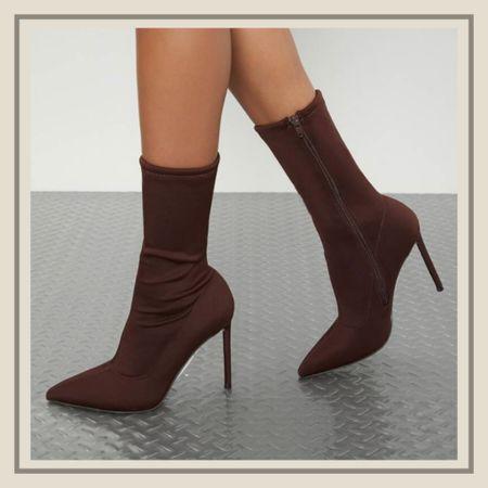 Lycra pointed toe zip up stiletto boots  #LTKshoecrush #LTKunder50 #LTKstyletip
