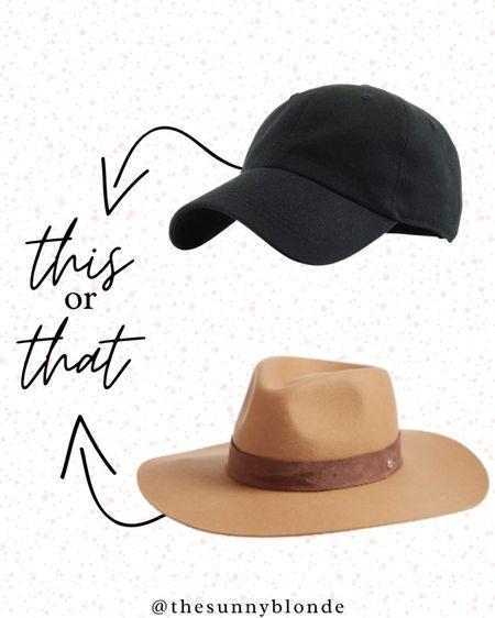 This or that? Summer hats are so trendy!    #LTKstyletip #LTKSeasonal #LTKunder50