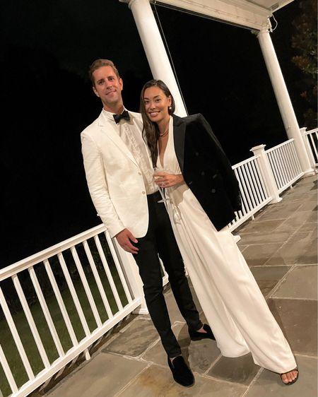 White jumpsuit and white suit jacket.   #LTKstyletip #LTKmens