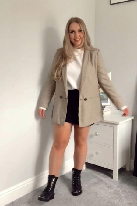 Autumn wardrobe staples; check blazer  #LTKSeasonal #LTKeurope #LTKstyletip