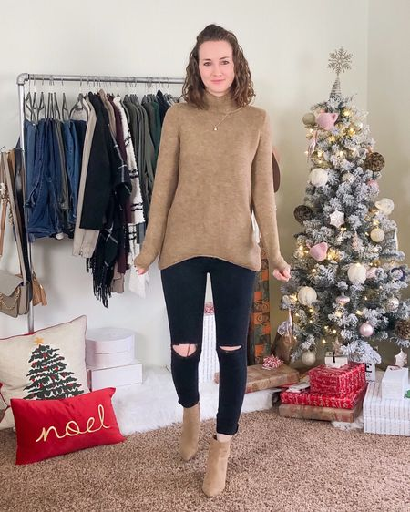 I hope everyone had a wonderful Christmas 🎄🎅🏻 This time of year always makes me feel so blessed and happy. I love family time and reflecting back on the year.   I also love the back of this sweater 😍 swipe to see ➡️ Bonus: it's on sale! I'm a sucker for black and camel 🖤 shop this look via the link in my bio or in the @liketoknow.it app ❤️ http://liketk.it/2Ivnr #liketkit