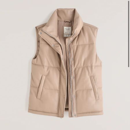 """Y'all!!! This buttery soft nude/beige vegan leather puffer vest is SOOOOO GOOD!!! And it's 25% off right now with code: """"LTKAF2021""""!!!! So it will be around $75!!!! But it's selling out fast, so if you like it, I'd def grab it quick! And it also comes in a gorgeous black color too!!! So perfect to transition to fall!!!    #LTKSale #LTKstyletip #LTKunder100"""