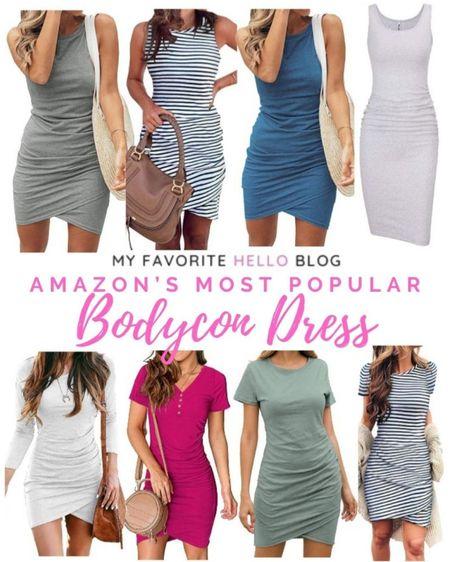 Amazon bodycon dresses under $25. Summer fashion. Most popular Amazon bodycon dresses. Casual bodycon dress. Casual summer dresses. Amazon knit summer dress. http://liketk.it/3en7G #liketkit @liketoknow.it #amazonfinds #bodycondress #summerdress #amazondress #bodycon #knitdress   #LTKstyletip #LTKunder50 #LTKcurves