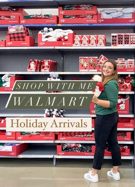 Shop with Me at Walmart to take a look at their Holiday arrivals #sponsored @walmart #walmarthome